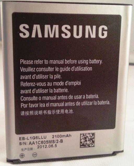 Batt Samsung EB-L1G6LLU Org i9300 Galaxy S3 2100mAh Li-Ion