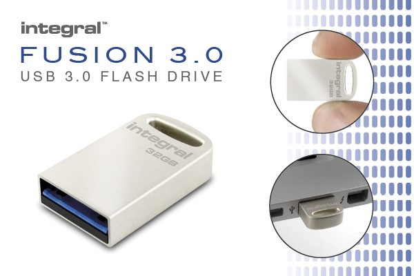 Integral 64GB USB 3.0 Flash Drive Metal Fusion