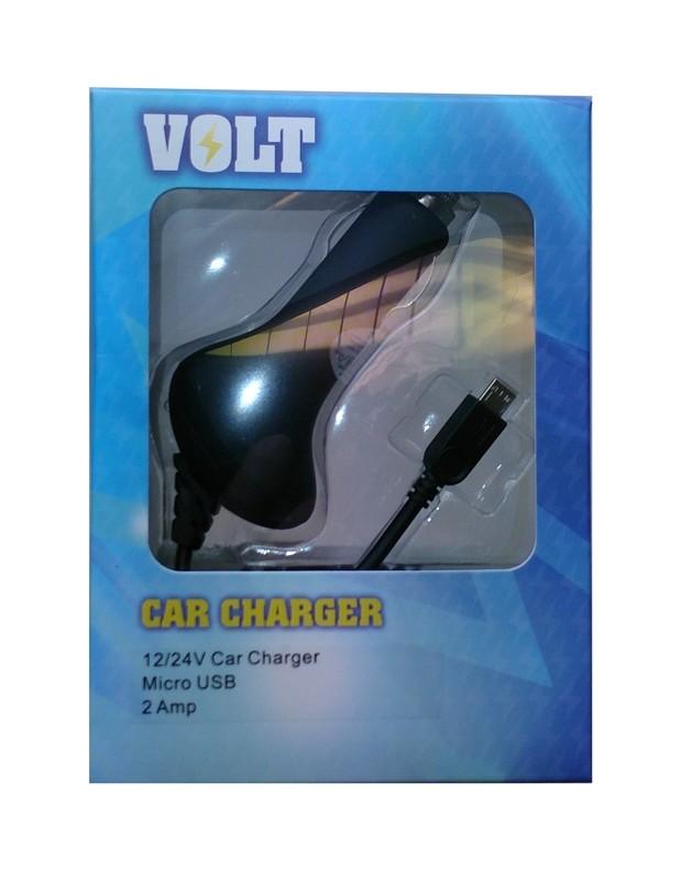 Autolader 12/24V VOLT, Micro USB, 2 Amp