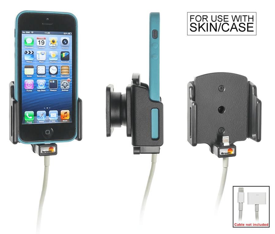 Brodit houder verstelb.62-77/6-10 iPhone SE/5S lightning->30