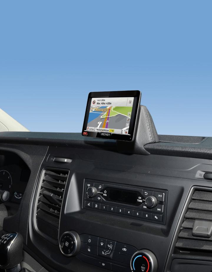 Kuda console Ford Transit Custom 2018- zwart NAVI