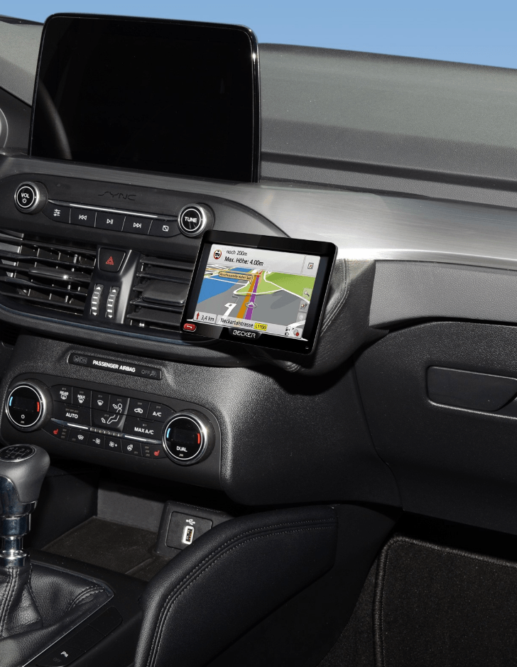 Kuda console Ford Focus 2018- zwart NAVI