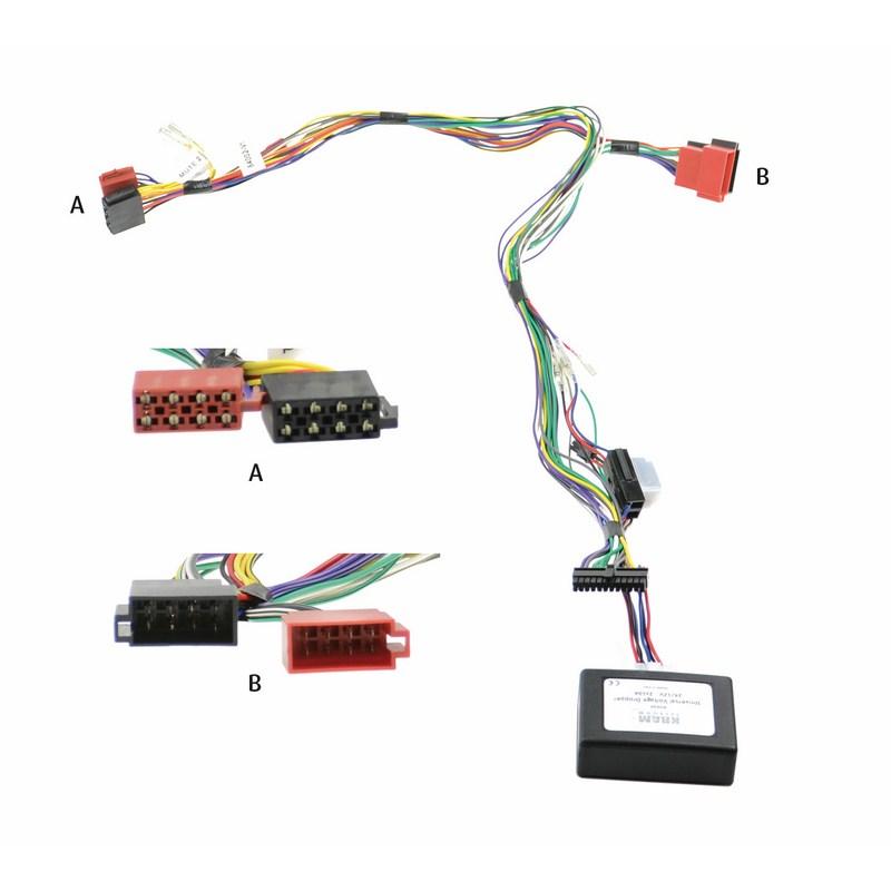 Kram Audio2Car ISO 24Volt + 2 kanaals 24->12V omvormer