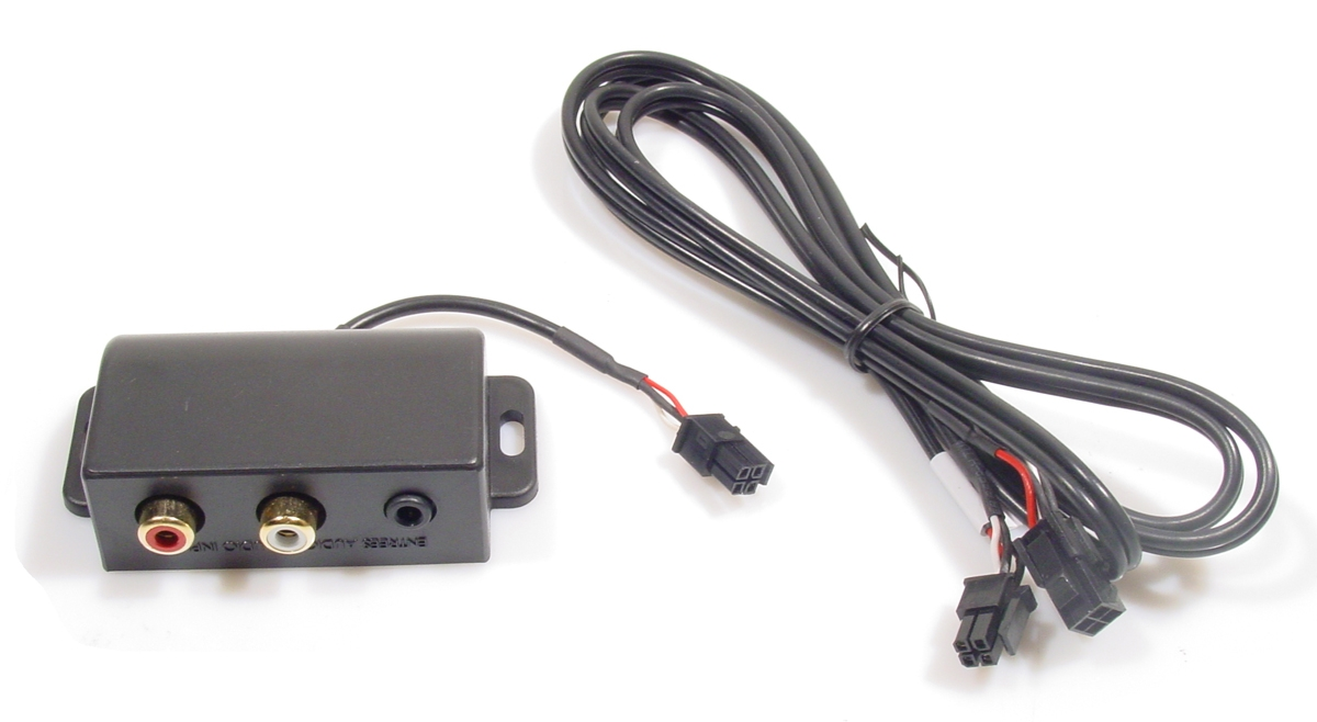 Aux adapter Microfit 4PIN Male -> Connection box Jack+RCA
