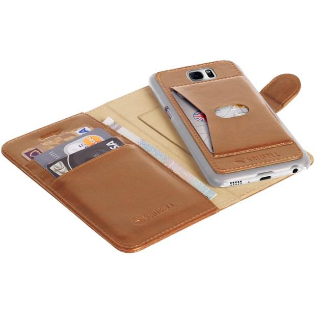 Krusell Ekero FlipWallet 2in1 Samsung Galaxy S7 Edge- cognac