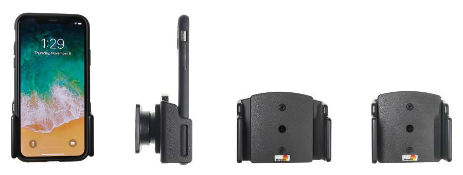 Brodit houder Apple iPhone Xs/XR/11 (verstelb.) 70-83/2-10mm