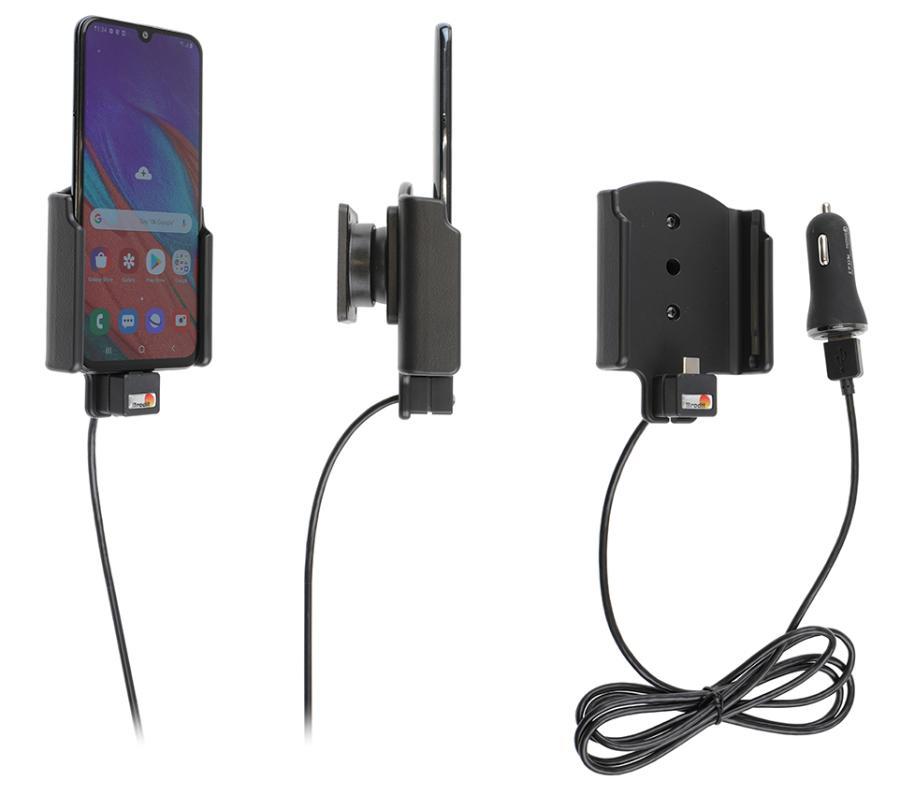 Brodit houder/lader Samsung Galaxy A40 USB sig.plug