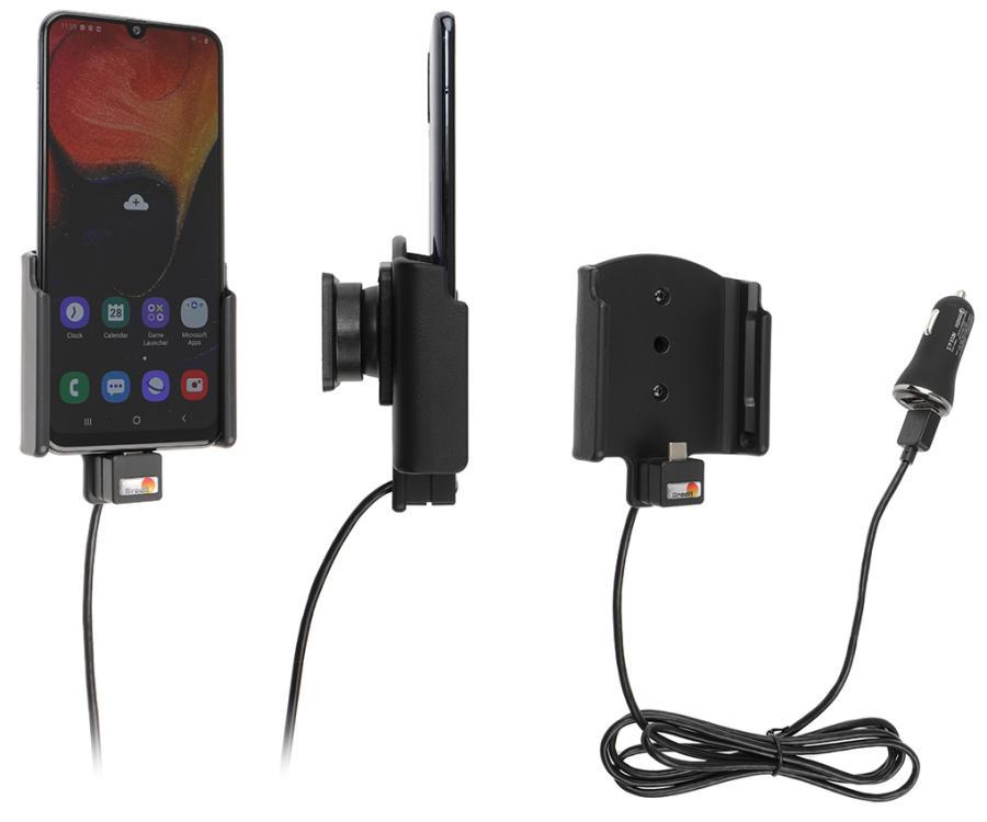 Brodit houder/lader Samsung Galaxy A50 USB sig.plug