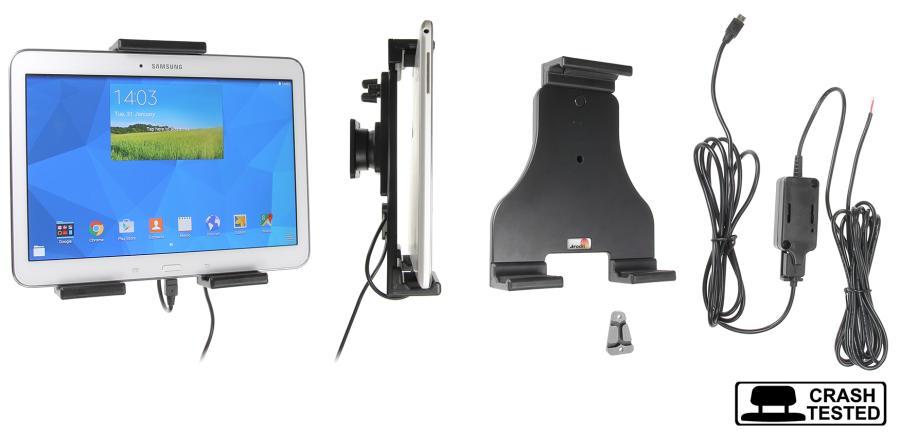 Brodit h/l Tablet verstelb.180-230mm USB-C fixed instal.