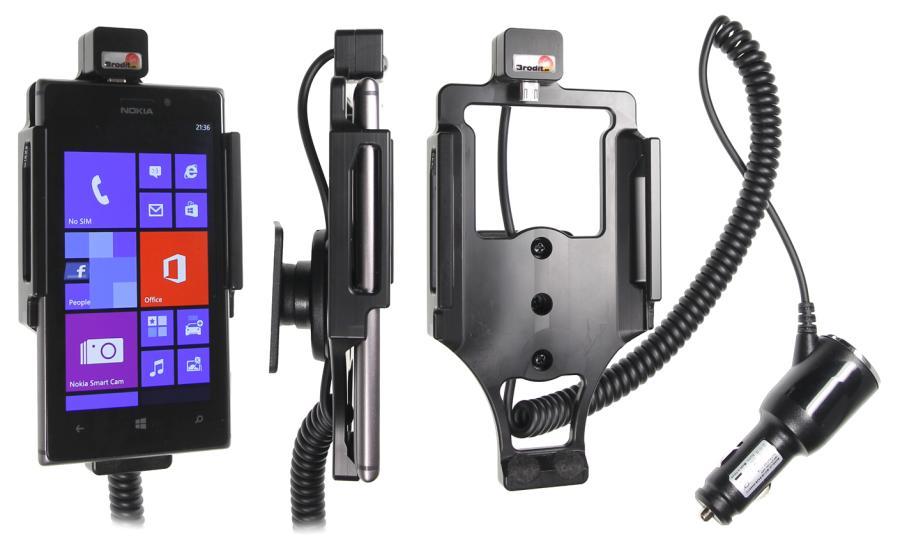 Brodit houder/lader Nokia Lumia 925 sig.plug