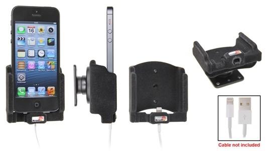 Brodit houder Apple iPhone SE/5/5S Padded lightn.->USB kabel