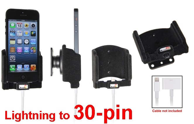 Brodit houder Apple iPhone SE/5S Padded (lightning->30 pin)