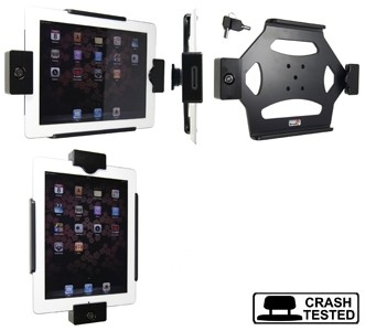 Brodit houder all cable iPad2/iPad3 LOCK homebutton onzichtb