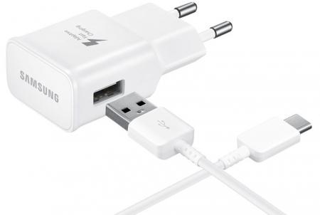 Reislader 230V Samsung EP-TA20EWE quickcharger + USB-C-wit