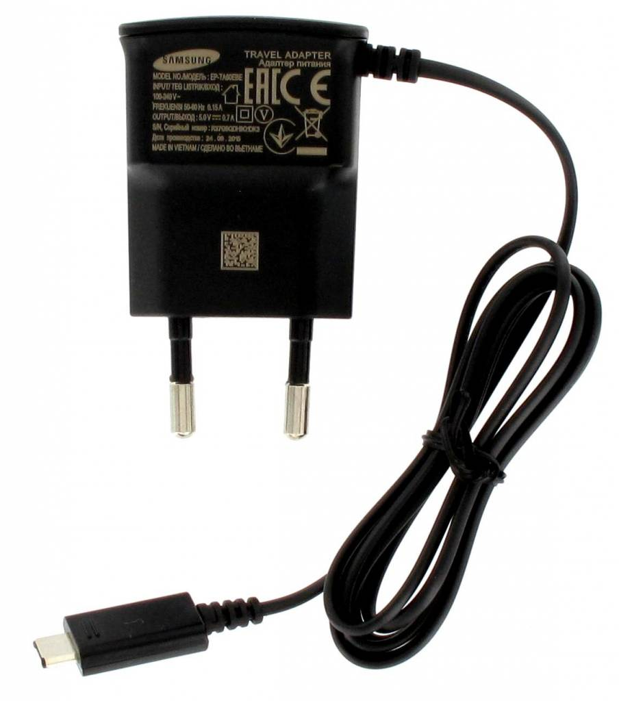 Reislader 230V Samsung EP-TA60EBE Micro USB 0.7Amp